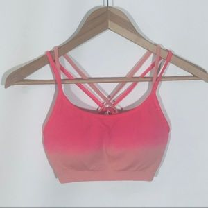 Fabletics Pink ombré Sports Bra Size Small